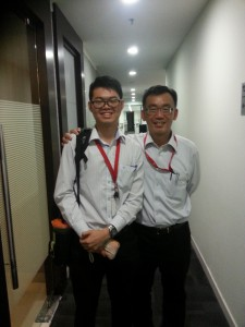 With my supervisor, Mr. Chong